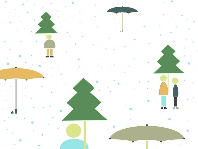 雨の木差し