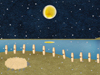 月が湖に寄道を